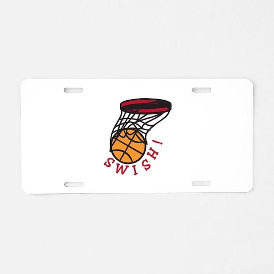 Basketball Swish Aluminum License Plate