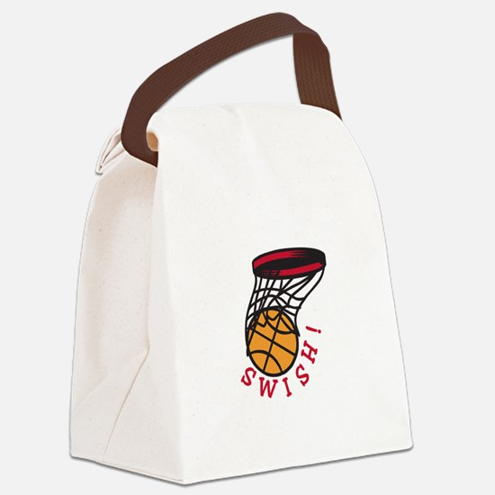 Basketball  Swish Canvas Lunch Bag