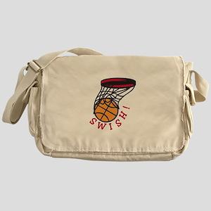 Basketball Swish Messenger Bag