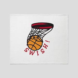 Basketball Swish Throw Blanket