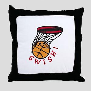 Basketball Swish Throw Pillow