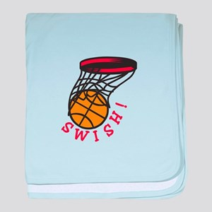 Basketball  Swish baby blanket