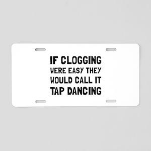 Clogging Tap Dancing Aluminum License Plate