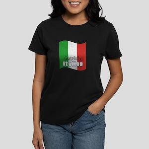Gratefully Italian Women's Dark T-Shirt
