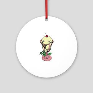 Ice Cream Sundae Ornament (Round)