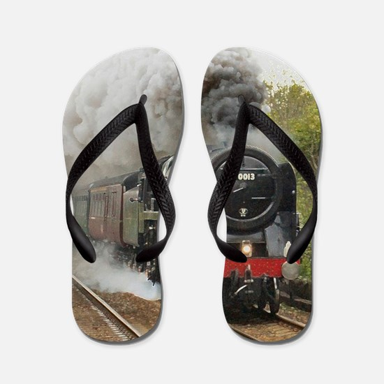 locomotive train engine 2 Flip Flops