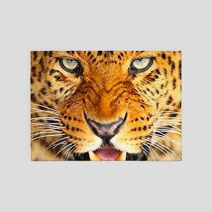 Leopard Portrait 5'x7'Area Rug