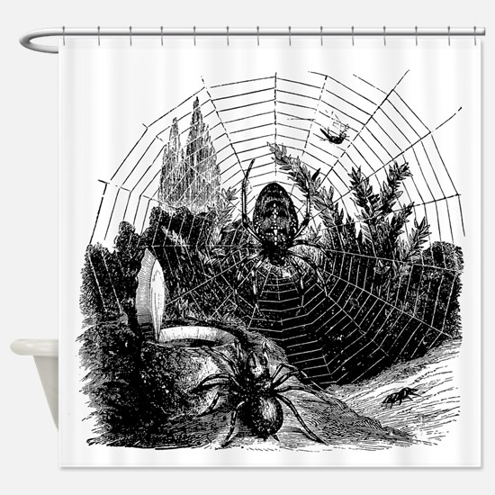 Funny Spider web Shower Curtain