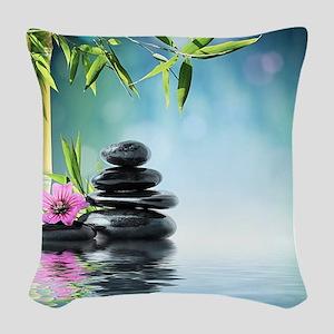 Zen Reflection Woven Throw Pillow