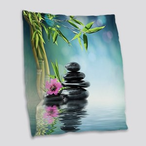 Zen Reflection Burlap Throw Pillow