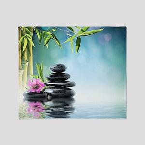 Zen Reflection Throw Blanket