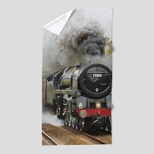locomotive train engine 2 Beach Towel