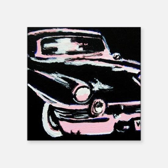 "VINTAGE CAR Square Sticker 3"" x 3"""