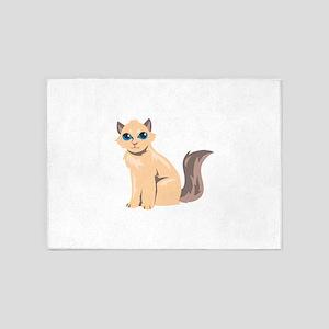 Cat Kitten Kitty Animal 5'x7'Area Rug