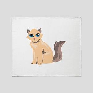 Cat Kitten Kitty Animal Throw Blanket
