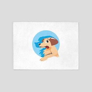 Dog Shadow Animal 5'x7'Area Rug