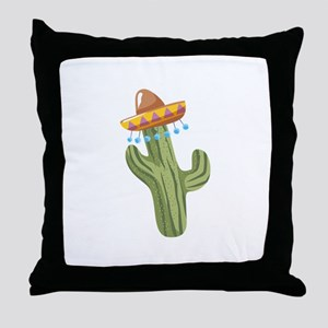 Catus Plant Sombrero Throw Pillow