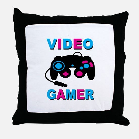Video Gamer Throw Pillow