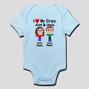 Aunt baby clothes accessories cafepress personalize crazy aunt uncle infant bodysuit negle Image collections