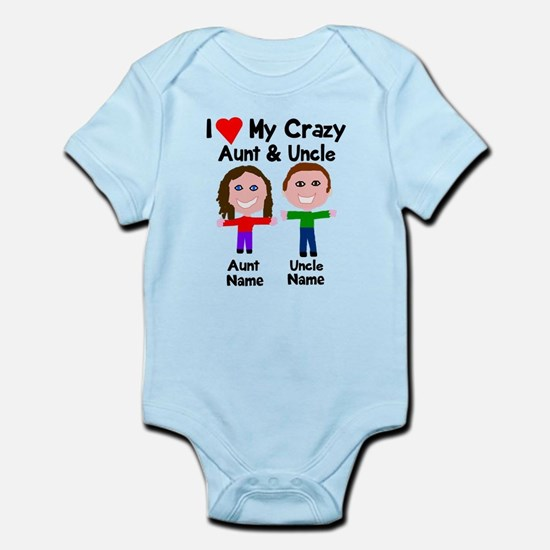 Aunt baby clothes cafepress personalize crazy aunt uncle infant bodysuit negle Choice Image
