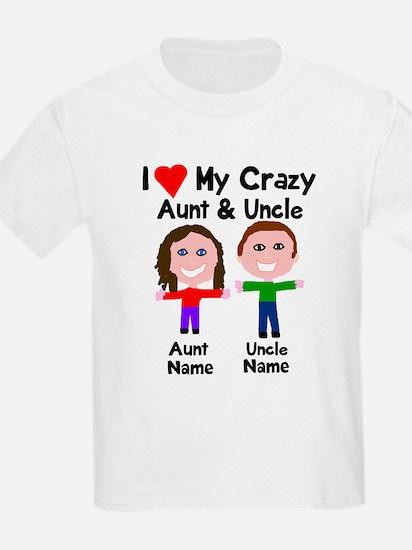 Personalize crazy aunt uncle T-Shirt