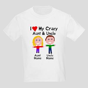 Personalize crazy aunt uncle Kids Light T-Shirt