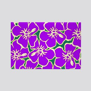 Tropical Purple Hibiscus Flowers Magnets