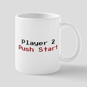 Player 2 Push Start Mugs