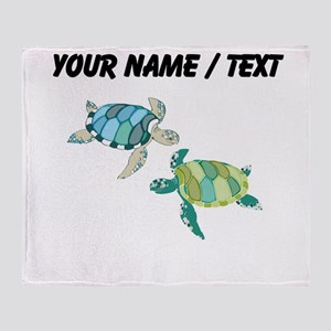 Custom Sea Turtles Throw Blanket