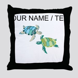Custom Sea Turtles Throw Pillow