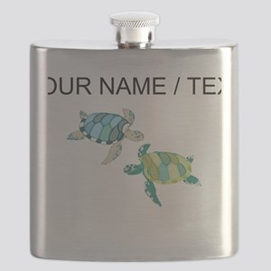 Custom Sea Turtles Flask