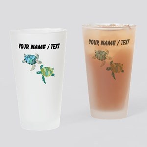 Custom Sea Turtles Drinking Glass