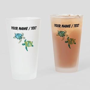 Custom Sea Turtles Drinking Glass