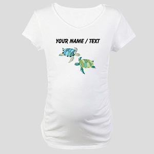 Custom Sea Turtles Maternity T-Shirt
