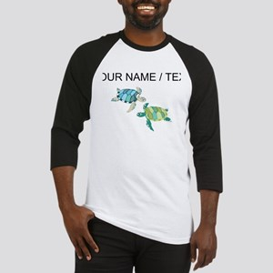 Custom Sea Turtles Baseball Jersey