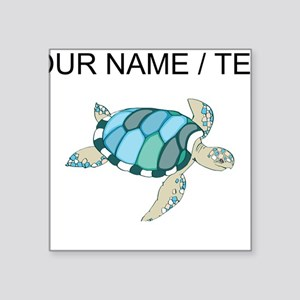 Custom Blue Sea Turtle Sticker