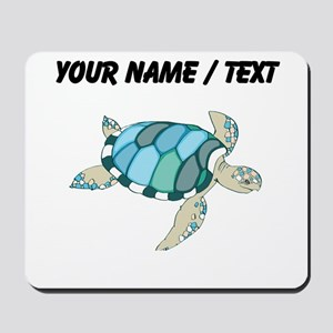 Custom Blue Sea Turtle Mousepad