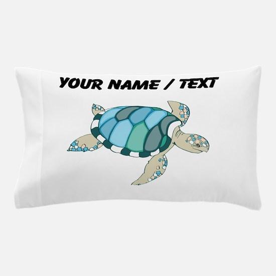 Custom Blue Sea Turtle Pillow Case