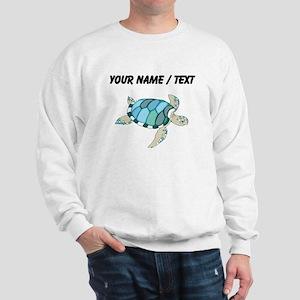 Custom Blue Sea Turtle Sweatshirt
