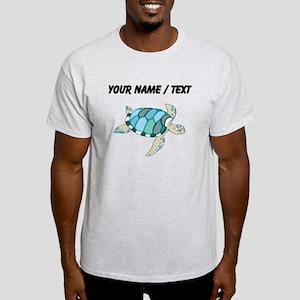 Custom Blue Sea Turtle T-Shirt