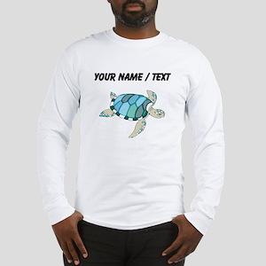Custom Blue Sea Turtle Long Sleeve T-Shirt