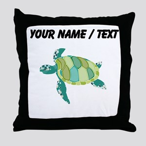 Custom Green Sea Turtle Throw Pillow