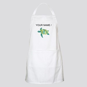 Custom Green Sea Turtle Apron