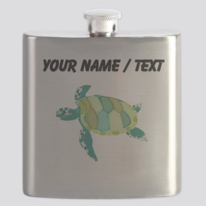 Custom Green Sea Turtle Flask