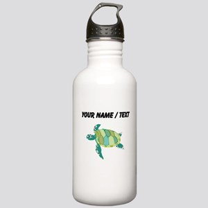 Custom Green Sea Turtle Water Bottle