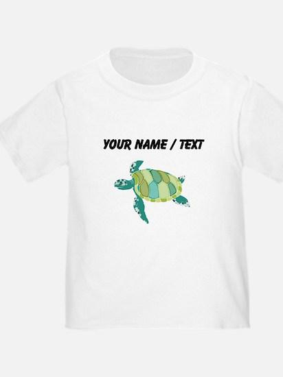 Custom Green Sea Turtle T-Shirt