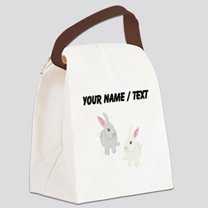 Custom Rabbits Canvas Lunch Bag
