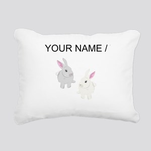 Custom Rabbits Rectangular Canvas Pillow