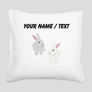Custom Rabbits Square Canvas Pillow