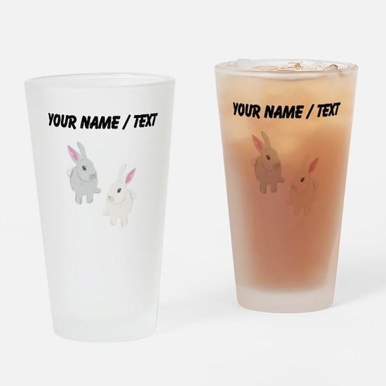 Custom Rabbits Drinking Glass